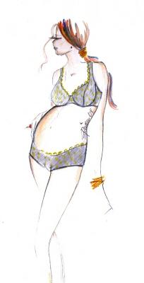 sketch pregnancy